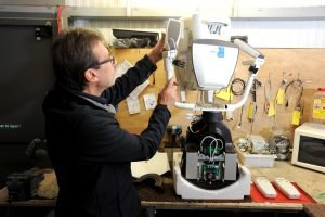 Picture of a stairlift being refurbished