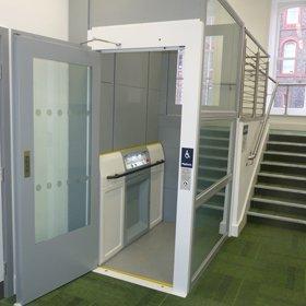 Picture of public access through floor lift