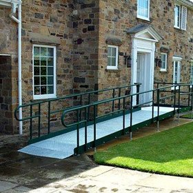 Picture of the modular metal ramp system on a private house - Easiaccess Ramps