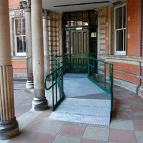 Picture of a modular ramps system suitable for public buildings - Public Access Ramps