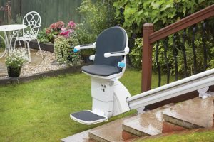 """""""Image of Handicare 1000 exterior stairlift"""