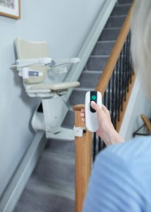Picture showing Calling the stairlift with the remote