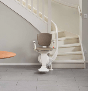 Picture of the Otolift air stairlift for curved staircases