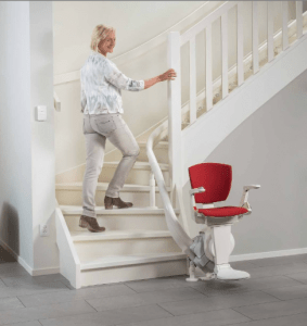 Picture demonstrating there is still plenty of room for other stair users