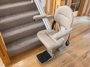 Picture of elite stairlift from above
