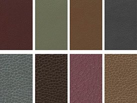 Picture showing choice of upholstery colours